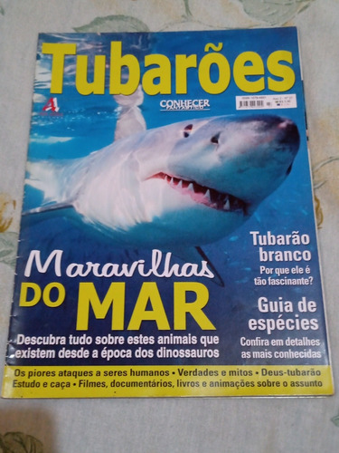Revista Rara Conhecer Fantástico; Tubarões Maravilhas Do Mar