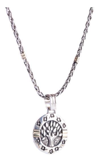 Conjunto De Cadena Tourbillony Medalla Del Arbol De La Vida
