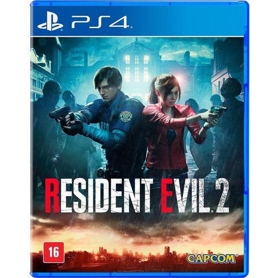 Resident Evil 2 Ps4 Remake - Jogo Mídia Física Em Português