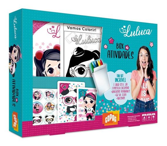 Box De Atividades Luluca Youtuber Colorir Giz Adesivo Poster
