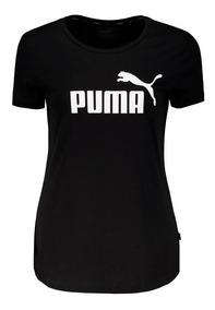 Camiseta Puma Essentials Logo Feminina Preta