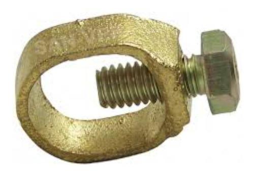 Imagen 1 de 1 de Conector Bronce Para Varilla Copperweld Polo A Tierra X 1pc