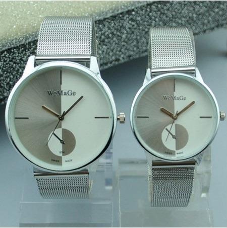 Relógio De Pulso Womage Quartz Lançamento Masc. Fem.