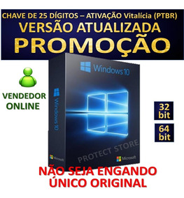 Windows10 Pro Key Chave Serial Licença Original Ativa Online