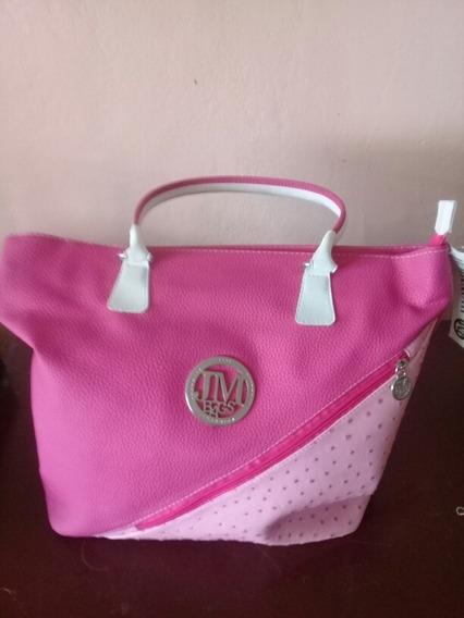 Cartera Tipo Bolso Grande Semi - Cuero Jm Bags (15verdes)
