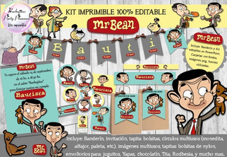 Kit Imprimible Candy Mr Bean 100% Editable