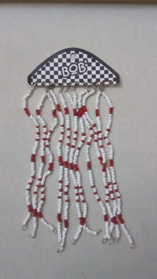 Pulsera De Mostacillas Blancas Y Rojas