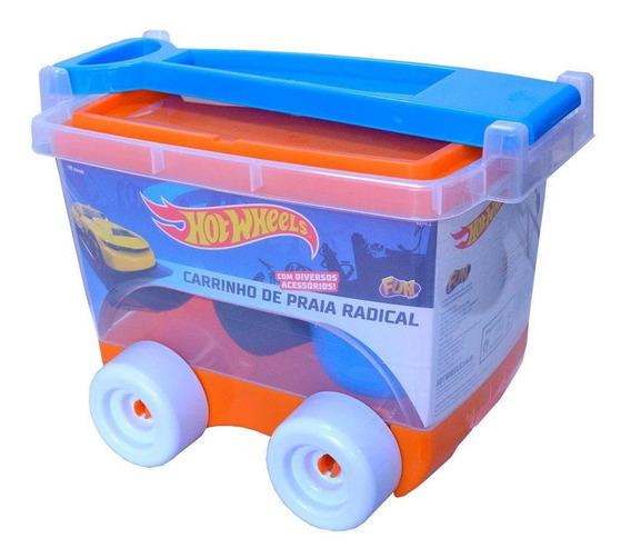 Hot Wheels Kit Praia Carrinho Baú - Fun Divirta-se