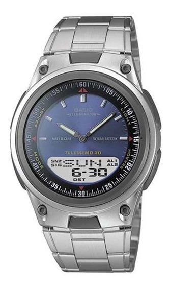 Relógio Masculino Anadigi Casio Aw80d2avdf - Prata