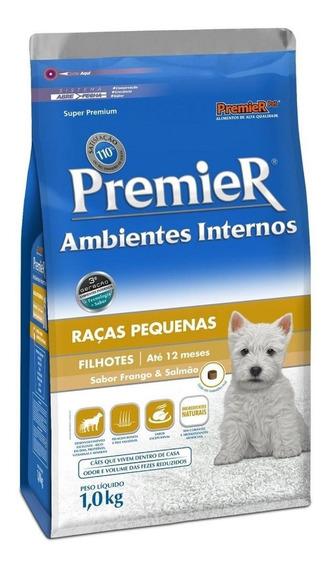 Ração PremieR Ambientes Internos Super Premium cachorro filhote raça pequena frango/salmão 1kg