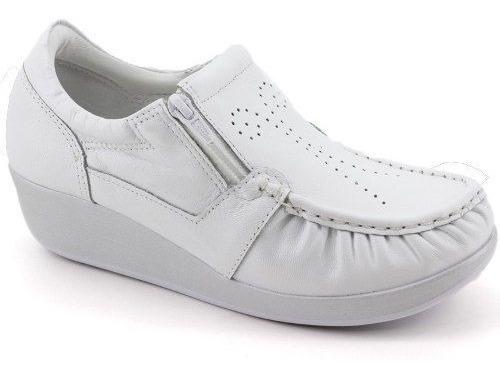 Sapato Usaflex Ziper Ortopedico Couro Anatomico - 5766 Preto