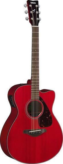 Guitarra Electroacústica Yamaha Fsx800c Ruby Red Nueva
