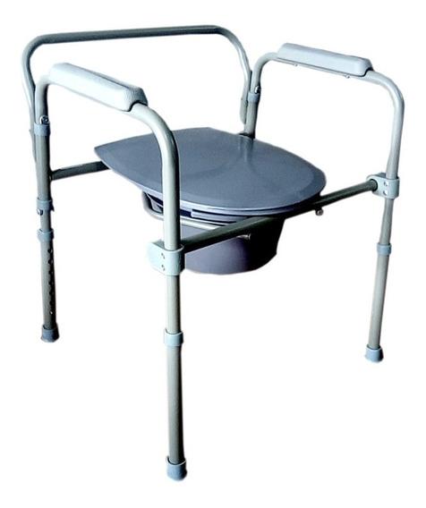 Silla Baño Discapacitados - Comodo Plegable De Acero