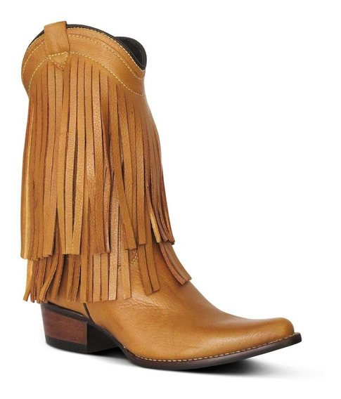 Bota Country Texana Inf. Couro Floater Franjas 2205