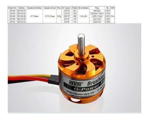 Brushless Motor Dys  1000kv  D3536