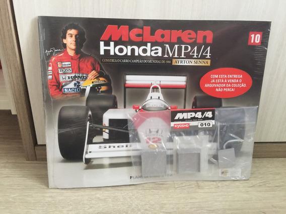Miniatura Fascículo 10 Mclaren Honda Mp4/4 - Ayrton Senna