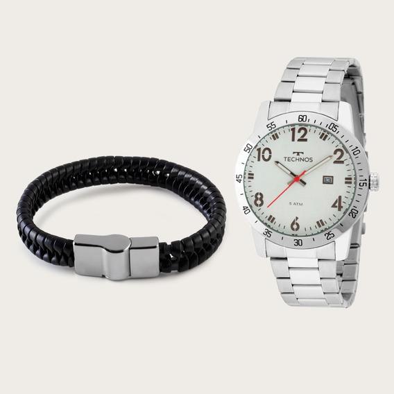 Relógio Technos Masculino 2115mms/1b Com Pulseira De Couro