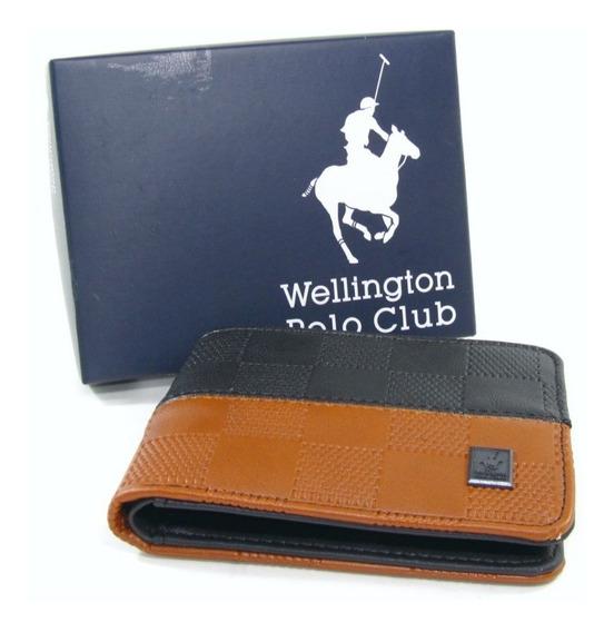 Billeteras Hombre Wellington Polo Club Pu Eco Cuero