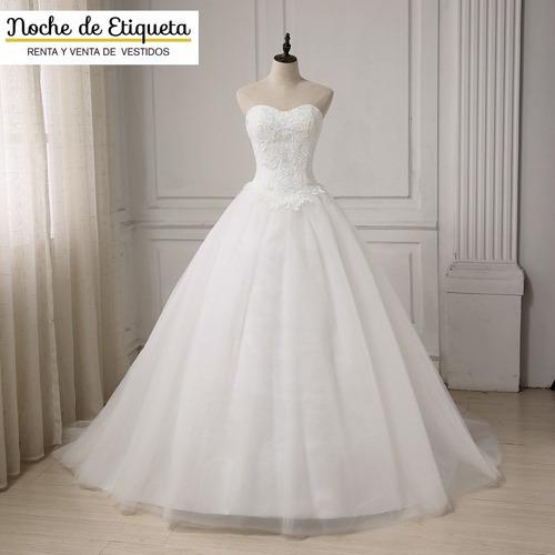 Vestido De Novia Nuevo Corte Princesa Encaje/tul Strapless
