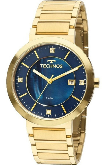 Relógio Technos Feminino Ref: 2115ktj/4a Casual Dourado