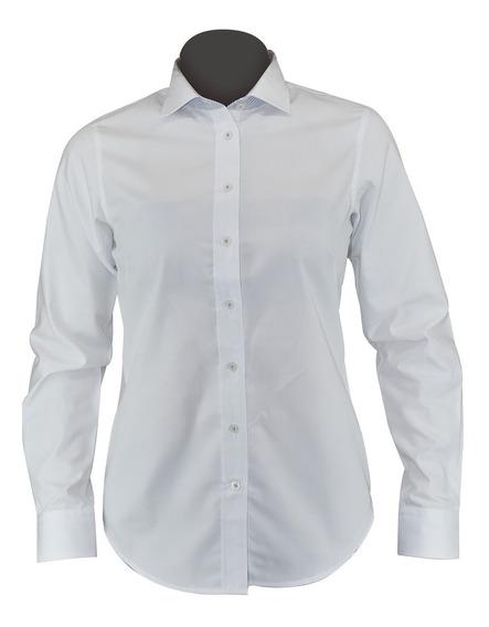 Blusa/camisa De Vestir Dama Blanca, Moderna, Algodón Liliana