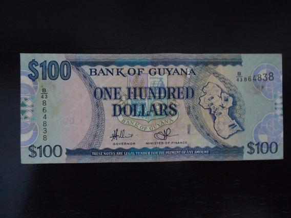 Nota Cédula 100 Cem One Hundred Dolar Guiana (34)