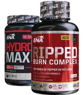 Rapido Quemador De Grasas 2x1 Hydroxy Max + Ripped Burn Hd