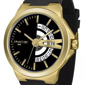 Relógio Lince Silicone Masculino Mrp4575s P1px Grande + Nota