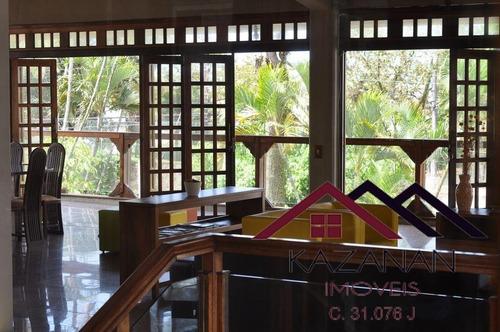 Casa Próximo A Praia, 6 Dormitórios, 6 Banheiros, Com 500m² No Guarujá, Sp - 3058