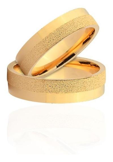 Par De Alianças De Casamento Pavia Em Ouro Amarelo 18k