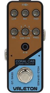 Pedal Valeton Crl-6 Coral Cab Preamp Ir Cab Simulator