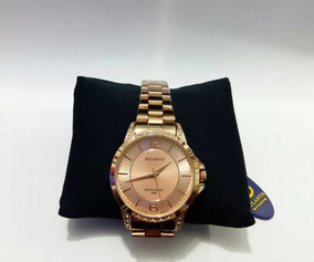 Relógio Original Atlantis Gold Feminino Resistente Água 3478