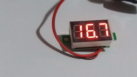 Voltímetro Digital Led Vermelho 2 Fios 3,5 À 35v