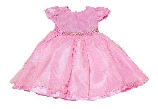 Vestido Infantil De Festa Luxo Princesa Rosa