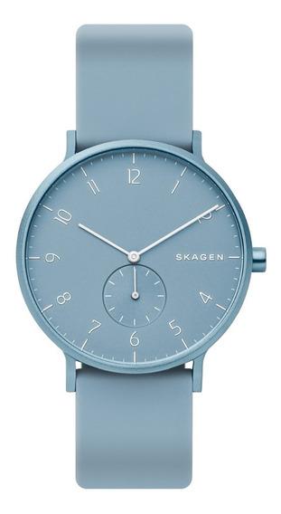 Reloj Unisex Skagen Aaren Kulor Skw6509 Color Azul Celeste