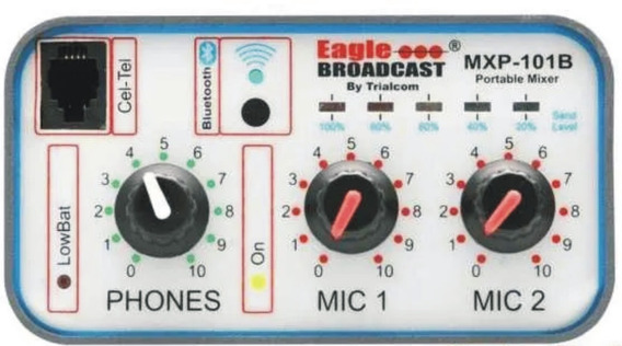 Consola Radiodifusion Mxp 101b 2 Mic Mas Bluetooth Trialcom