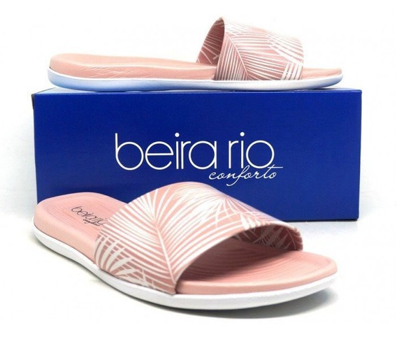 Chinelo Conforto Slide Tropical Rosa