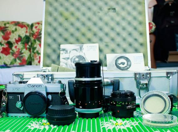 Linda Câmera Canon Ft + Acessórios