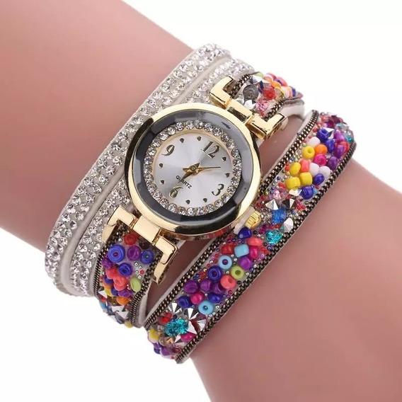 Relógio Feminino Bracelete Com Strass