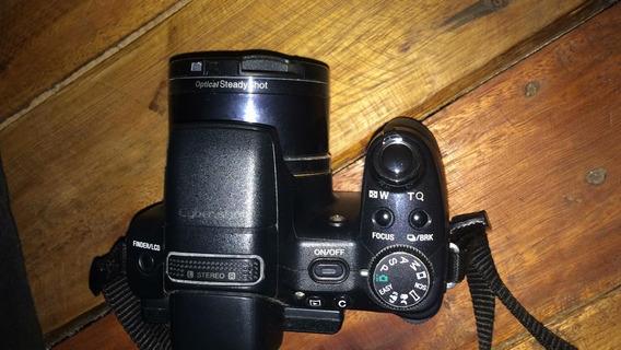 Câmera Semiprofissinal Top Da ( Sony ) Pouco Usada !