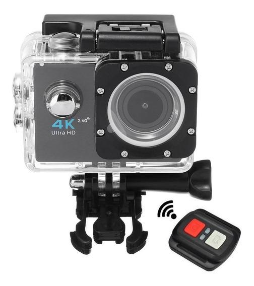 Camera Action Cam Ultra Hd A Prova De Agua Wifi Com Controle