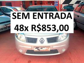 Renault Sandero 1.0 - Ar + Direção - Sem Entrada 48x R$853,0