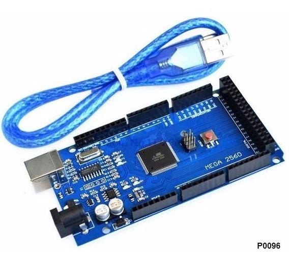 Arduino Mega 2560 R3 Atmega Com Cabo Usb Robotica Cnc Uno