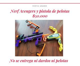 2 Pistolas De Dardos Y Pelotas Nerf Usadas
