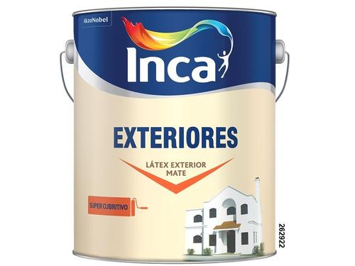 Pintura Para Exteriores Blanco Inca 4 Litros.