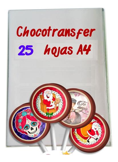 Paquete 25 Hojas De Chocotransfer Tamaño A4