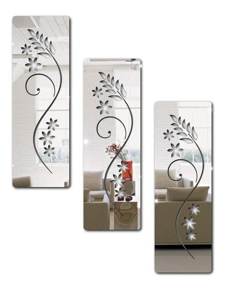 Espelho Decorativo Em Acrílico Florais - Flores