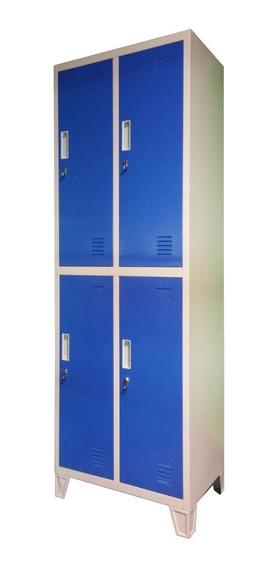 Guardarropas Locker Prontometal 4 Puertas Medianas Metálico