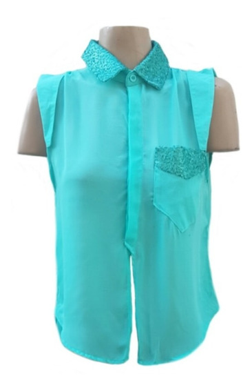 Lozavi Camisa Con Lentejuelas