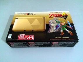 Nintendo 3ds Xl Edição Zelda 64gb + De 100 Jogos [desbloq.]